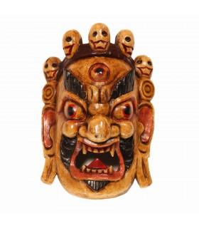 Ferocious Bhairav Wooden Mask