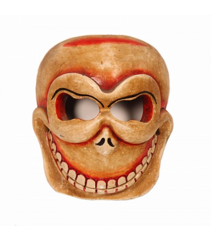 Skull head wooden mask