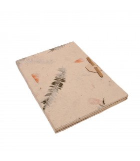 Dried leaves note book