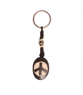 Peace symbol key ring