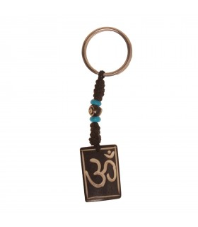 Om mantra crafted key ring