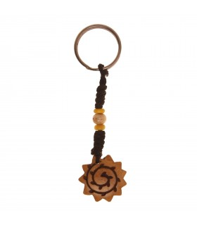 Bone scalloped key ring