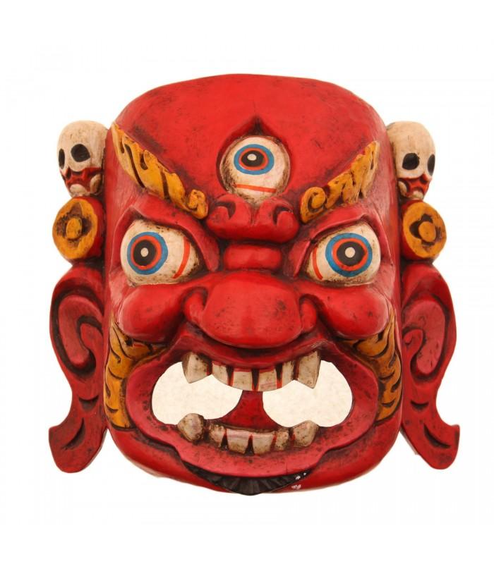 Fierce red Bhairav mask