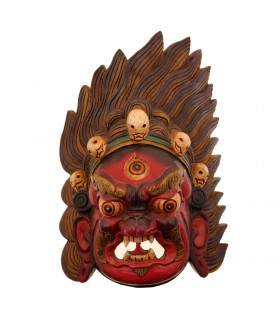 Huge Long haired Bhairav mask