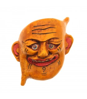 Joker wooden mask