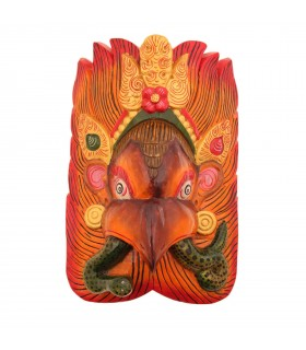 Garuda with snake wall hanging mask