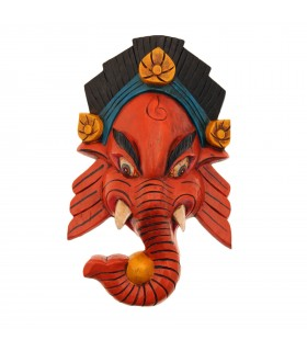 Lord Ganesha wooden mask
