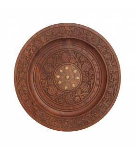Floral wooden plate