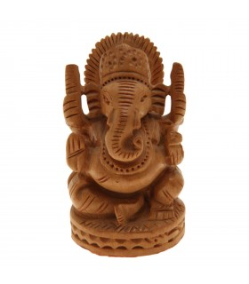 Wooden statue of Lord Ganesh