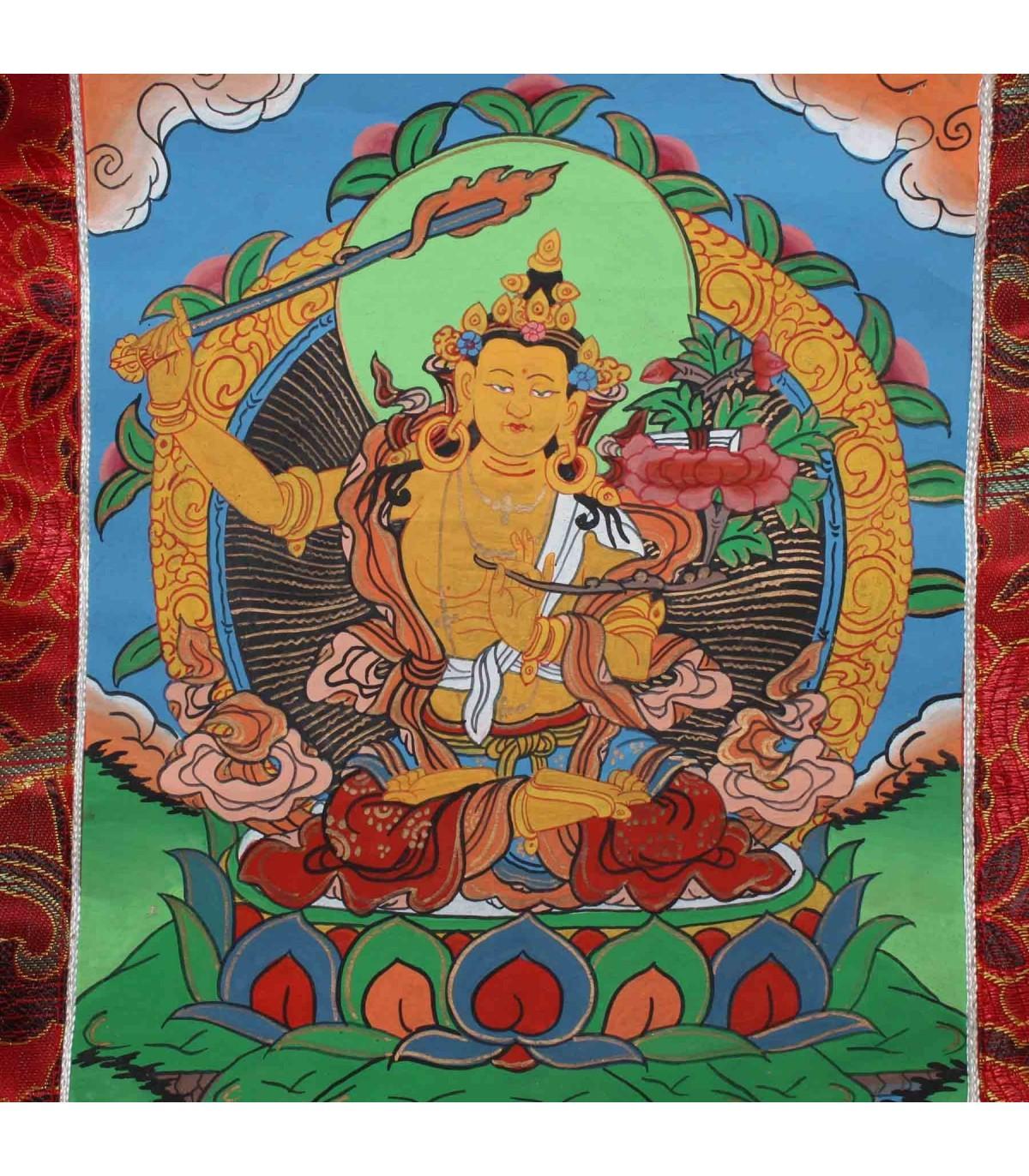 Manjushri Buddhist Thanka Buy Thanka From Nepal Online