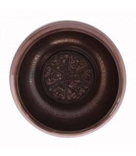 Etched On Tibetan Symbols Singing Bowl