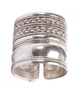 Broad surface Silver Ring