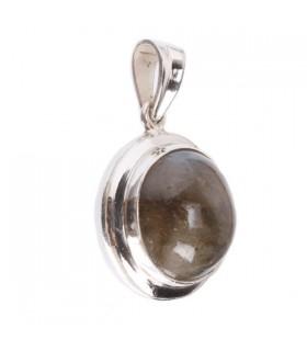 Labrodorite Studded round pendant