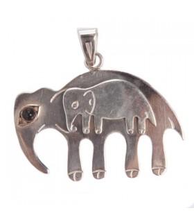 Elephant upon Elepant Black Onyx pendant