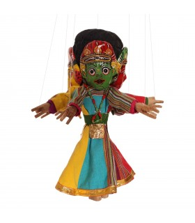 Four faced dancing puppet