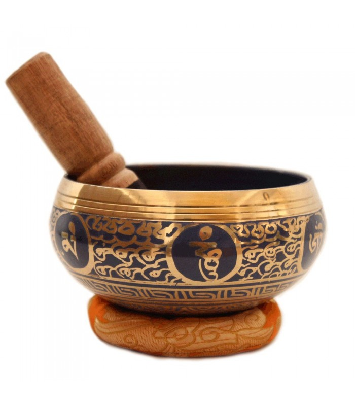 SCARLET BLUE SINGING BOWL