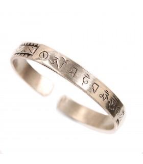 Tibetan mantra inscripted bracelet