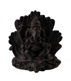 Ganesha resting in a throne
