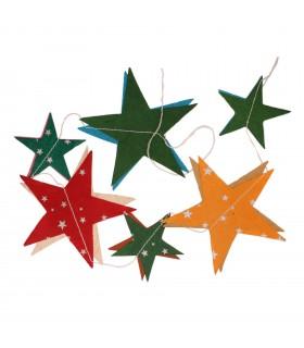 Star paper garland decoration