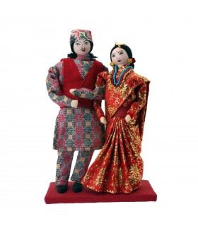 Adorable married Nepali couple dolls