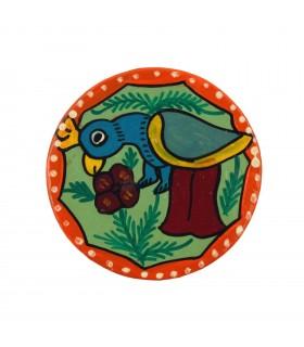 Round Coaster Depicting Mithila Art