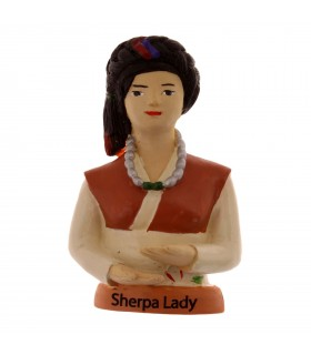Sherpa lady magnet décor