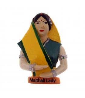 Maithili lady magnet décor
