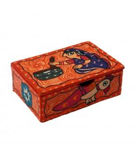 Small rectangular Mithila box