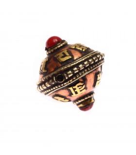 Tibetan Mantra crafted bead