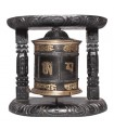 Ebony Black Two Column Wall Prayer Wheel