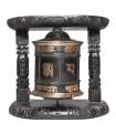 Ebony Black Two Column Wall Prayer Wheel